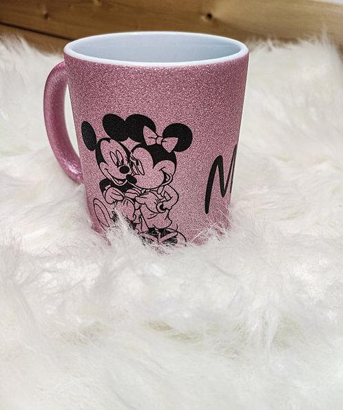 Mugs paillettes rose