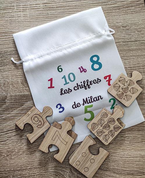Puzzle nombre Montessori