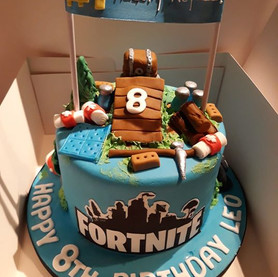Fortnite style birthday cake