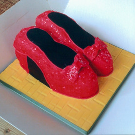 Dorothy style shoes birthday cake