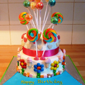 Lollies and sweets birthday cake