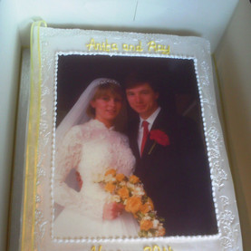 Anniversary wedding album photo cake
