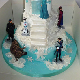 Disney frozen castle cake