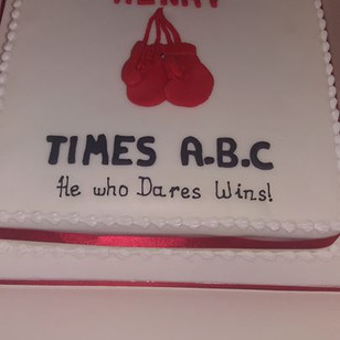 Boxing themed cake