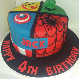 Marvel superheros style birthday cake