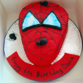 Novelty Sipderman birthday cake