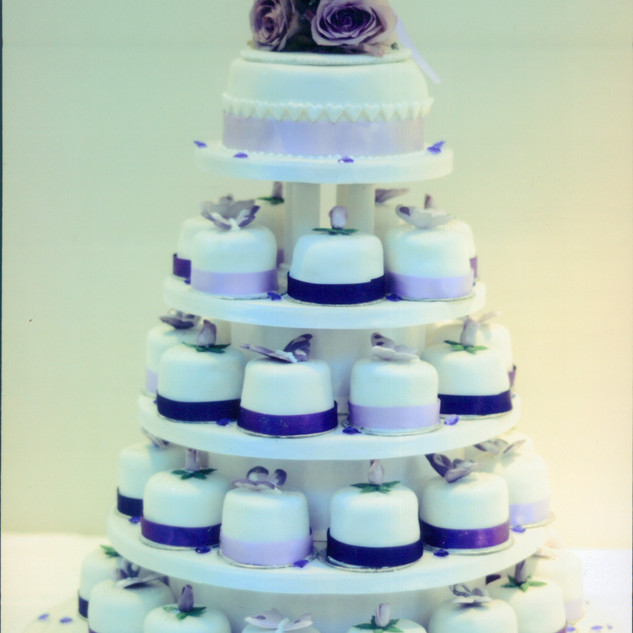 Mini cake wedding tower