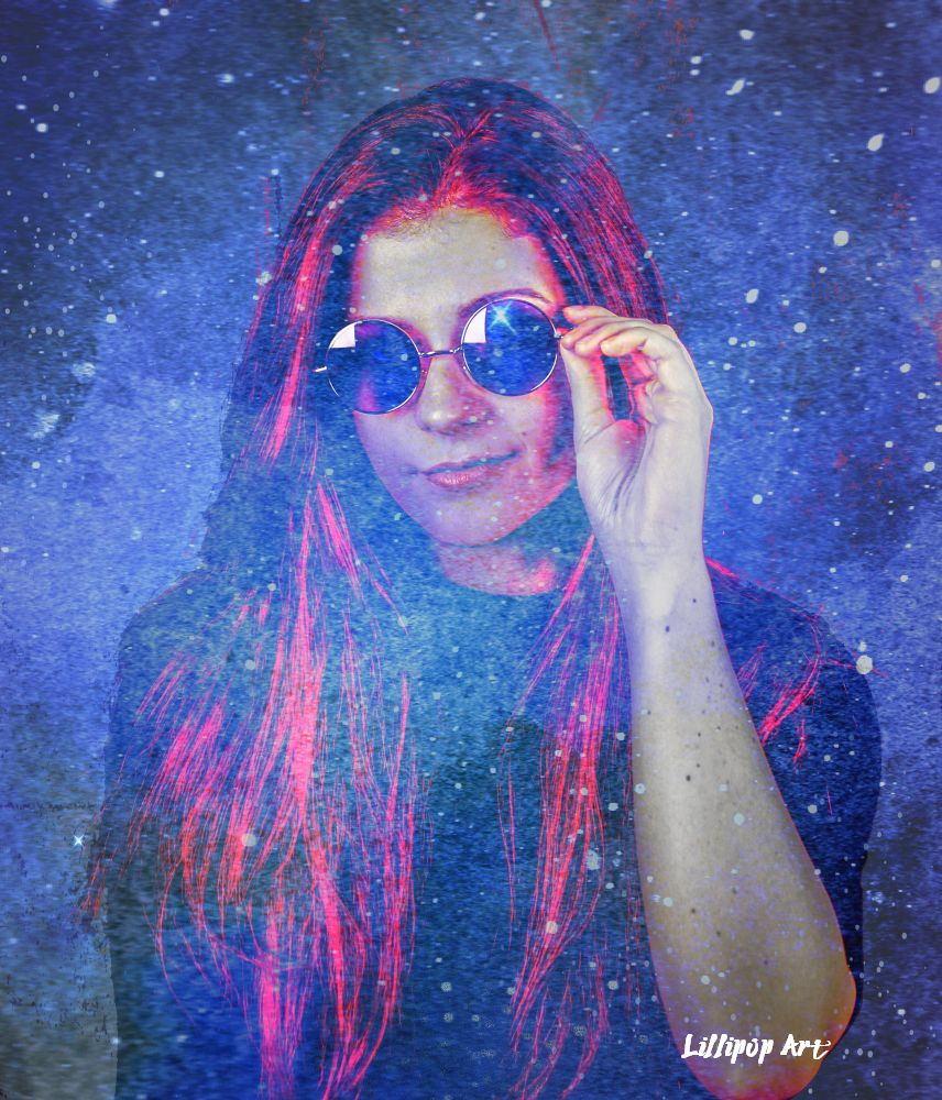 Cool Jillian in a Galaxy by Lillipop Art 2018 websize watermarked