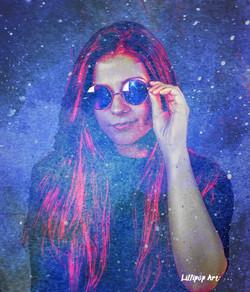 Cool Jillian in a Galaxy by Lillipop Art 2018 websize watermarked
