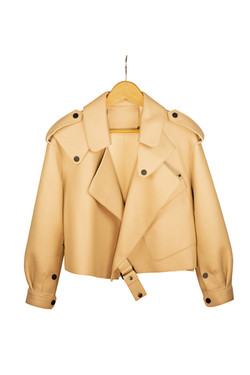 DV Luxury Goods Tan Leather Jacket