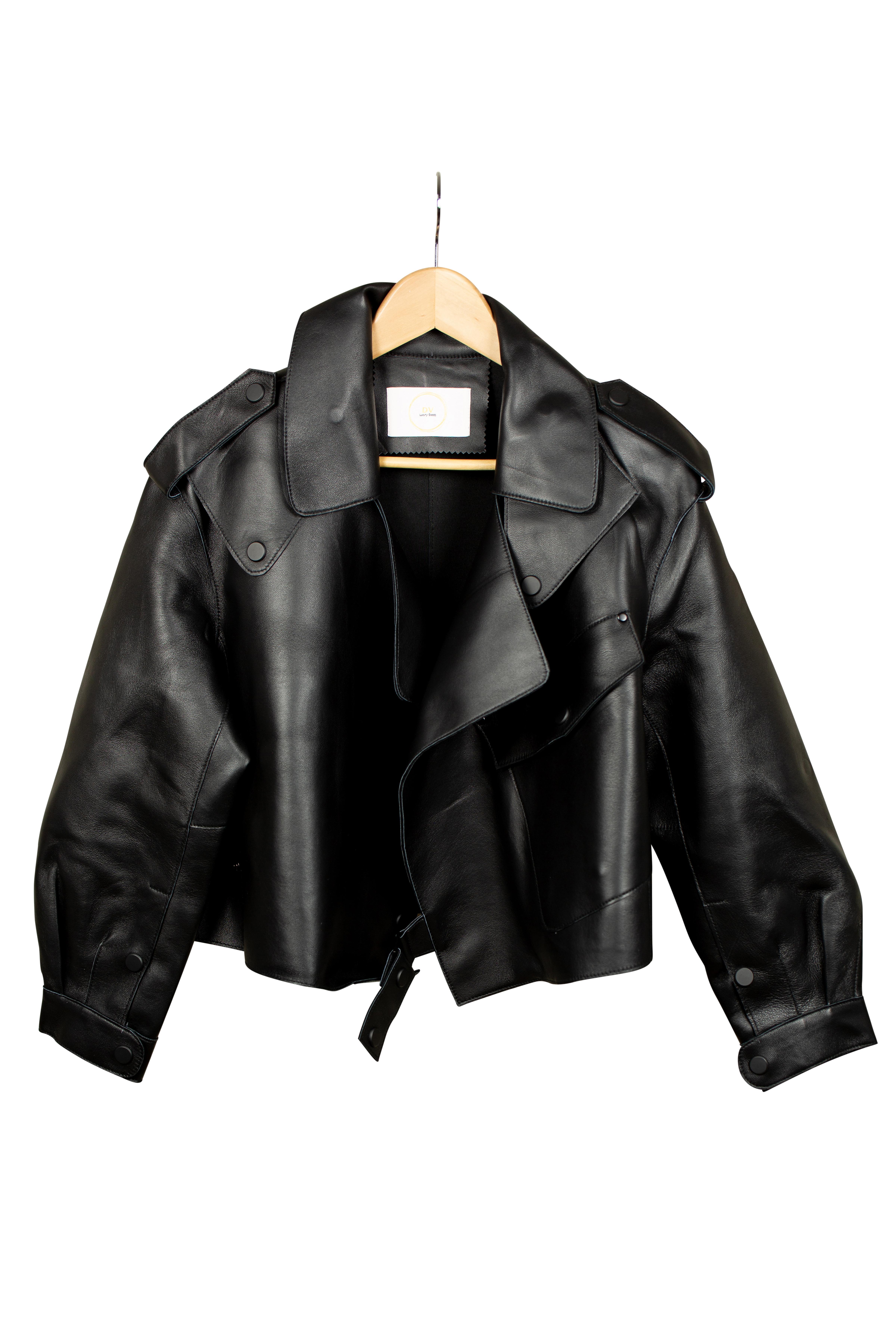 DV Luxury Goods Black Leather Jacket