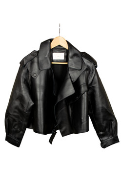 DV Luxury Goods Black Leather Jacket
