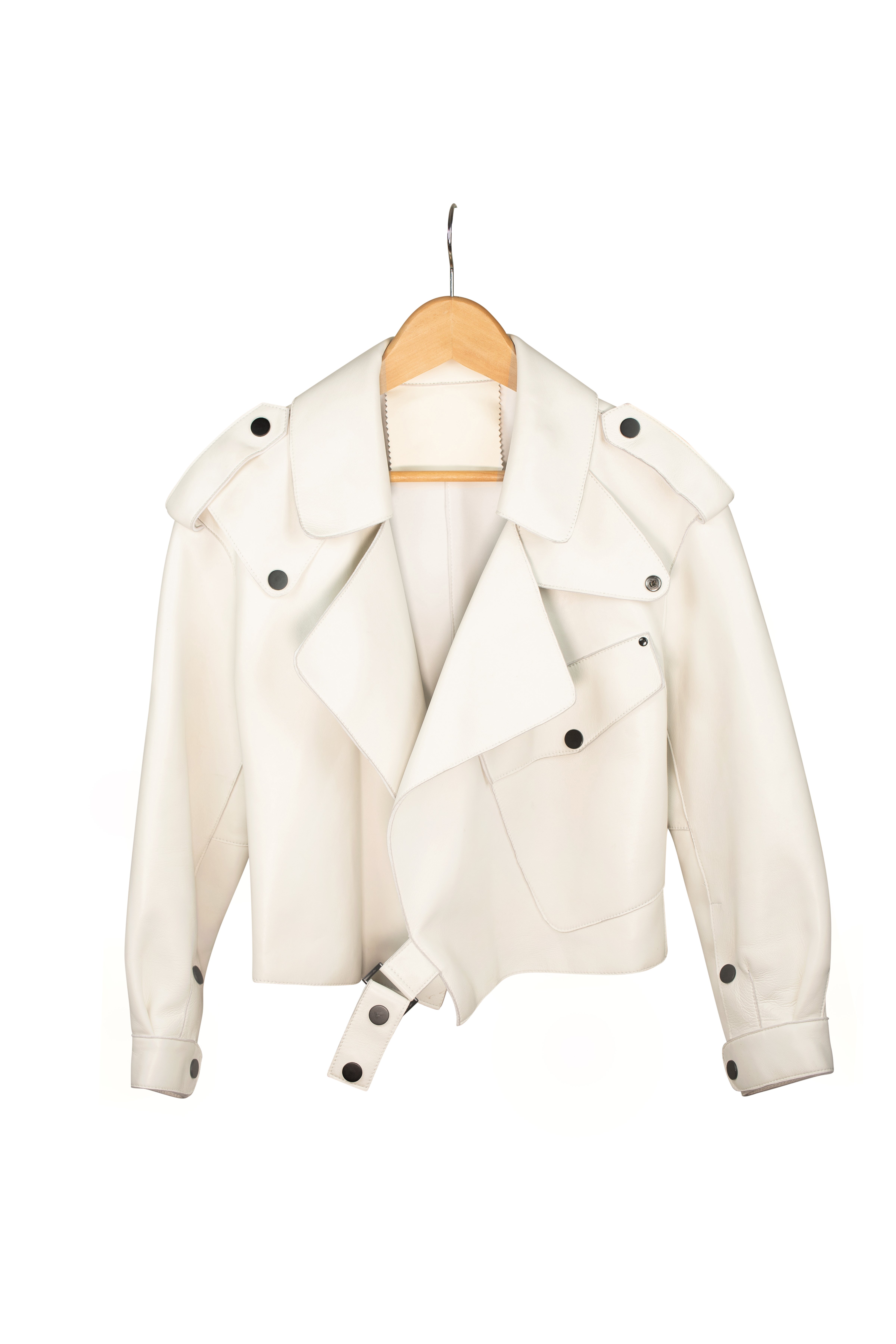 DV Luxury Goods White Leather Jacket
