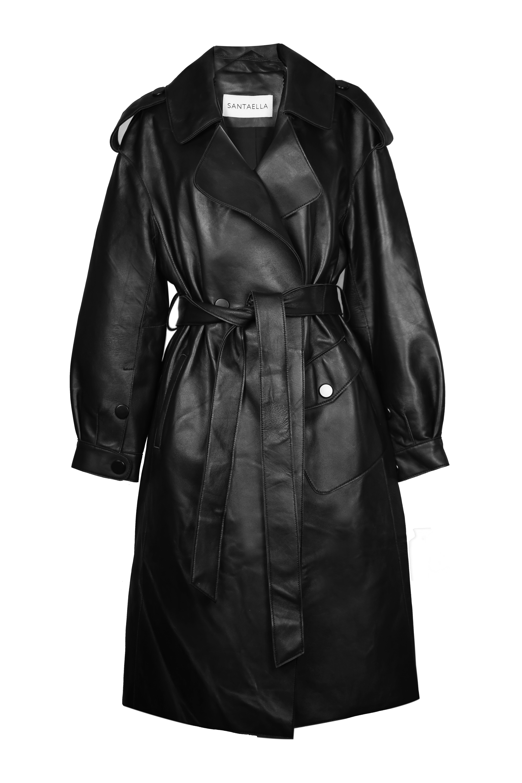 11- Paulette Trench Coat Black