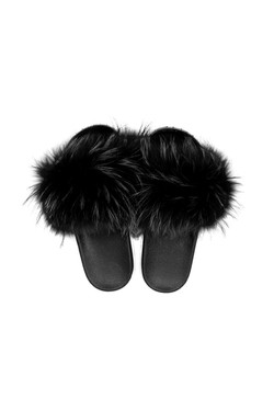 DV Luxury Goods Fur Slippers