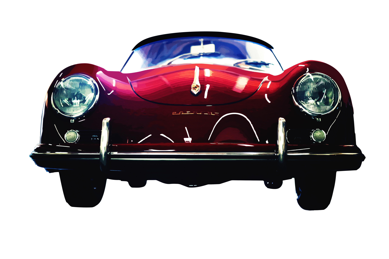 Red Porsche 356 by Lillipop Art