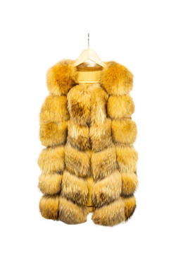 DV Luxury Goods Mustard fur vest