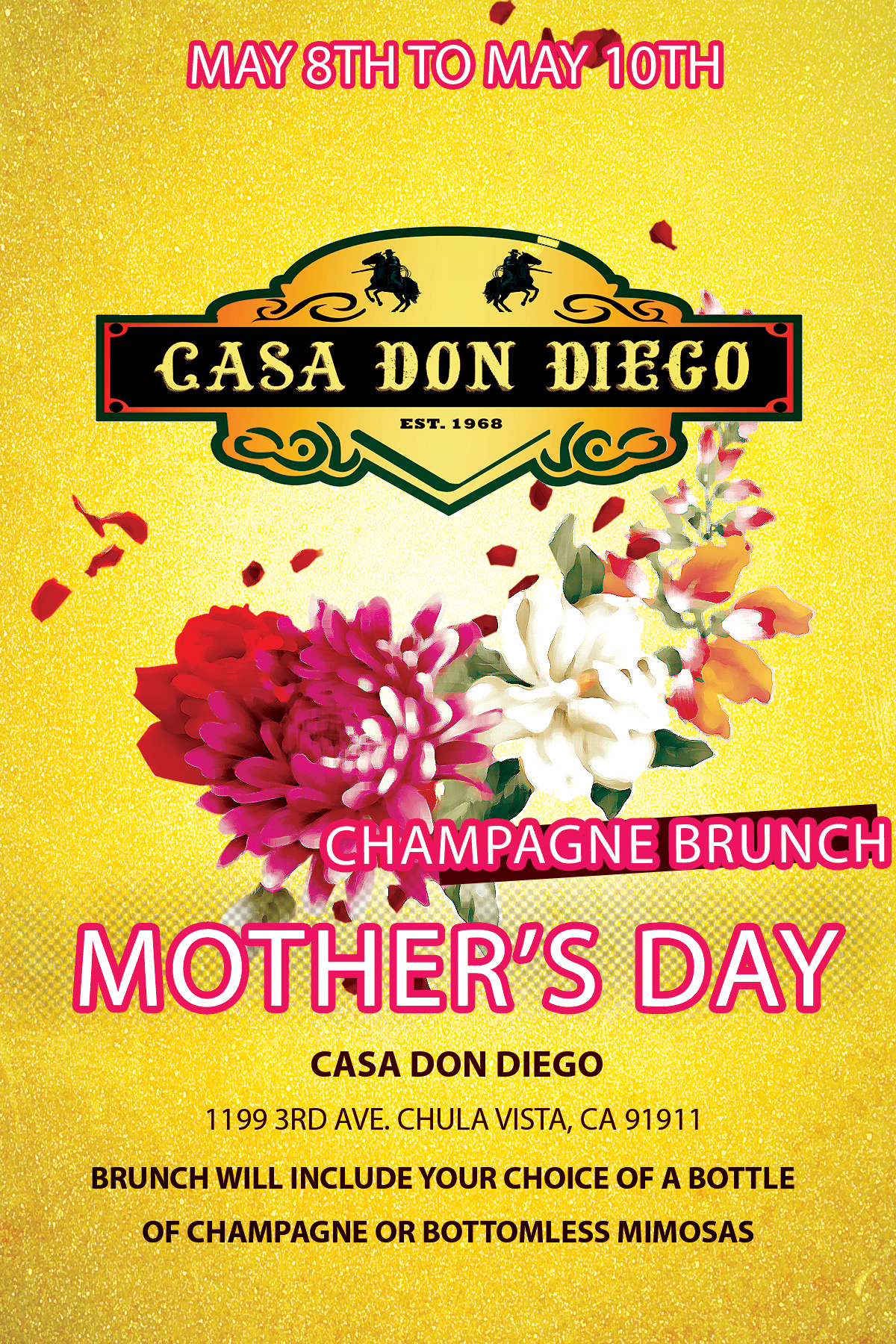 casa don diego mothers day
