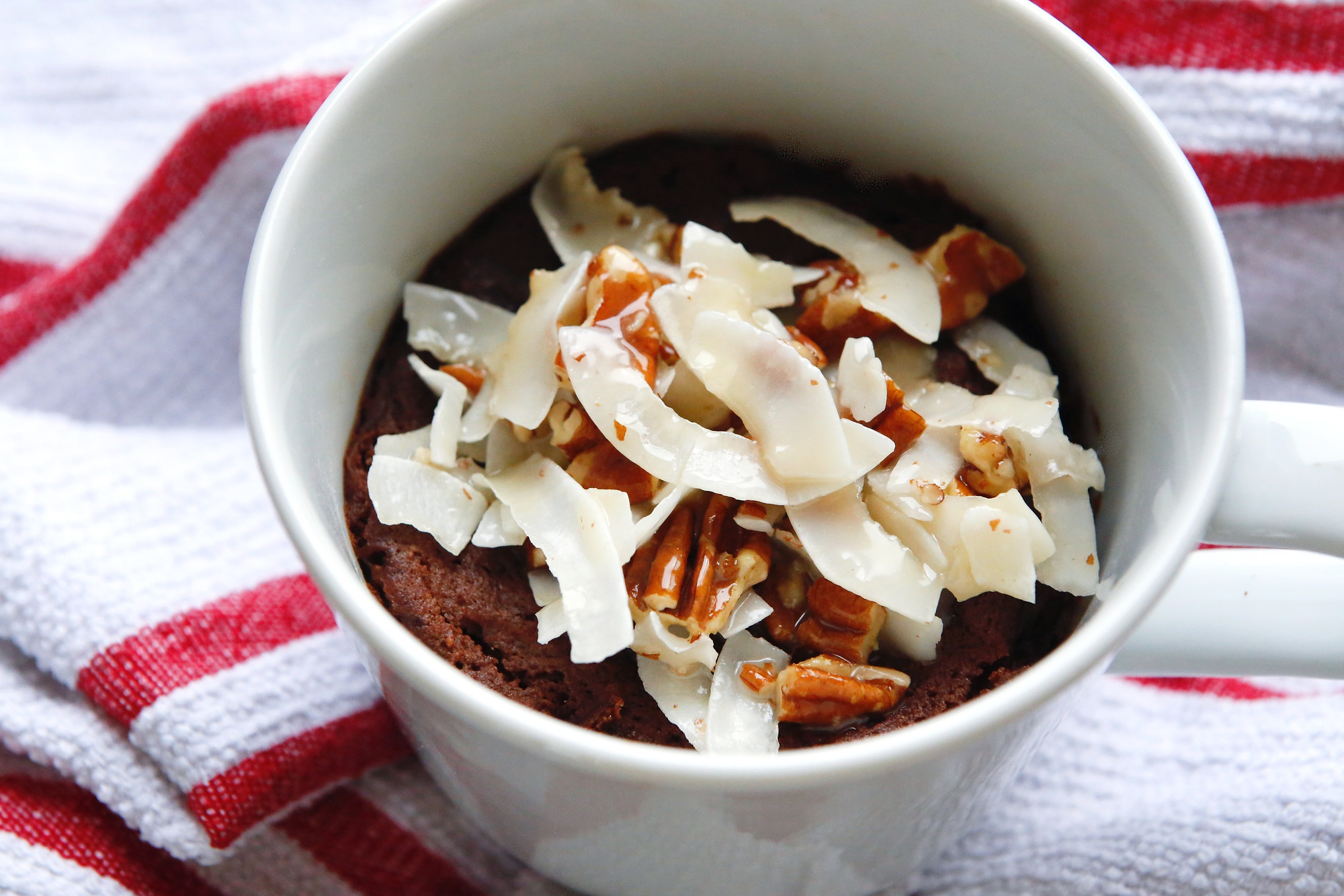 Quick German Chocolate Mug Cake