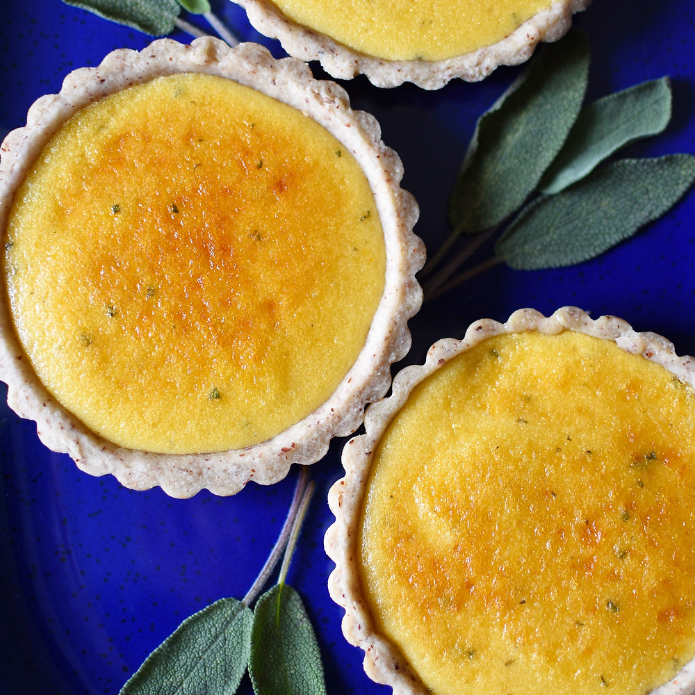 Meyer Lemon, Sage, and Olive Oil Tarts