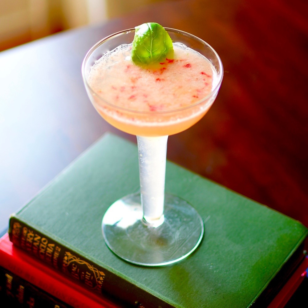 Strawberry Basil Gin Smash