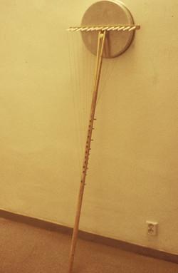 Garden rake harp