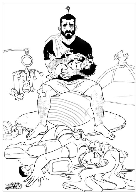 Please go to sleep - Coloring Page
