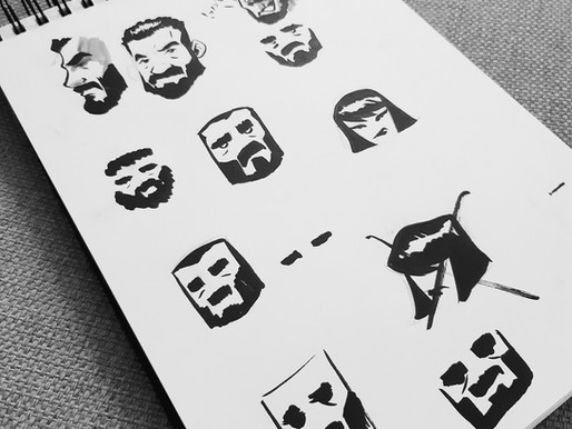 First Logo sketches. 2015.