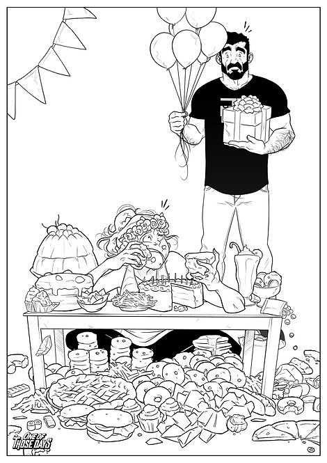 Happy Birthday! - Coloring Page