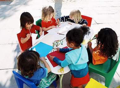 Children playing arts and crafts