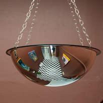 Dietzsch Chandelier, 2018 acrylic dome mirror, metal chain 29 x 71.5cm x 71.5cm