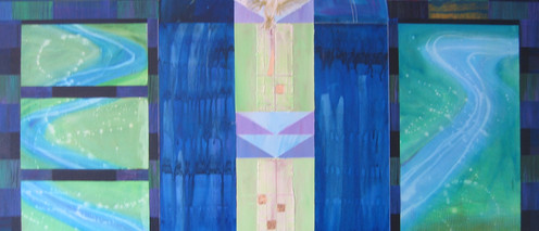 Take me to the River, 2003 Acrylic mixed media on stretched canvas