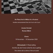 Chess: Panui/Announcement
