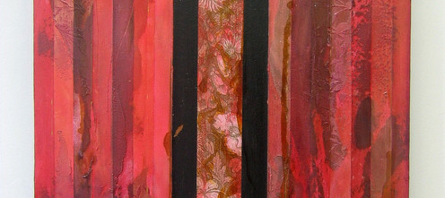 Wallpaper I, 2007 Acryic mixed media on stretched canvas, wallpaper