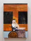 ísos, 2017 acrylic and mixed media on board 61cm x 91.5cm Photo: Arekahānara