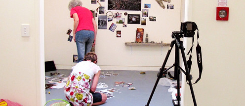 Open Ended Conversation, 2010 Photo of the process of recording the installation process...