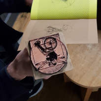Vitruvian Angel Man rubber stamp