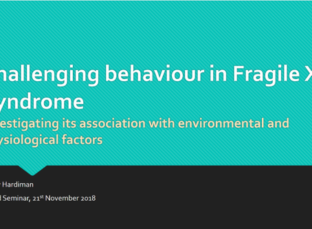 Challenging Behaviours in Fragile X Syndrome: Investigating Environmental and Physiological Influenc