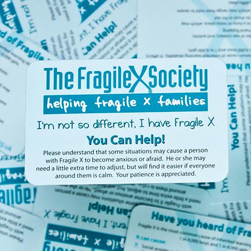 Fragile X Awareness Cards