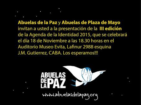 PRESENTAMOS LA  AGENDA DE  LA IDENTIDAD 2015