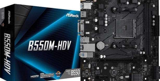 ASRock B550M-HDV AMD B550