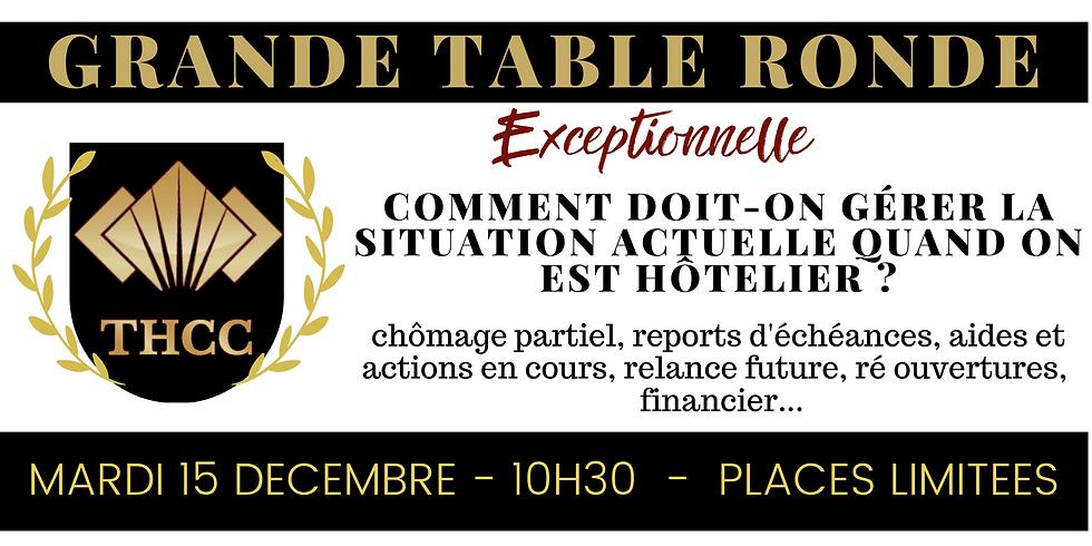 Grande Table Ronde: Comment doit-on gérer la situation actuelle quand on est Hôtelier?