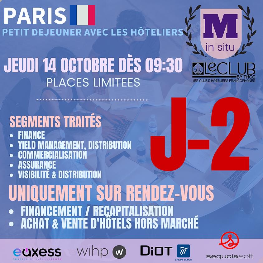 PETIT DEJEUNER A PARIS - FINANCE, SALES & MARKETING, DISTRIBUTION, YIELD, ASSURANCE & ACHAT D'HOTELS