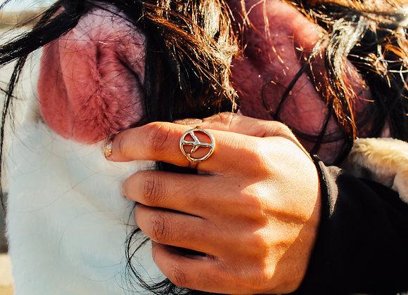 Circle of Peace Gold Ring