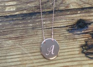 """""""I Am Adored"""" Collection Necklace- Letter A"""