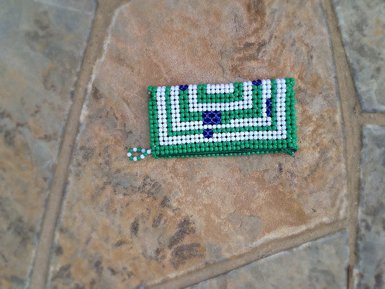 Green/Blue/White Beaded Clutches