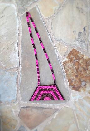 Pink/Brown Beaded Purse