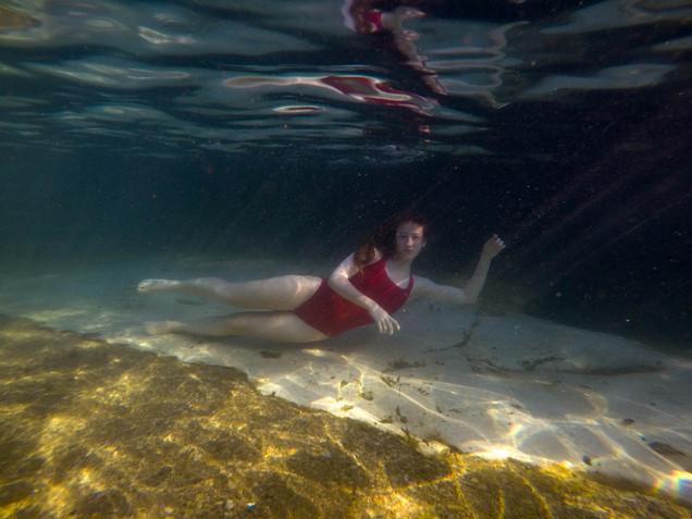 untitled portrait underwater