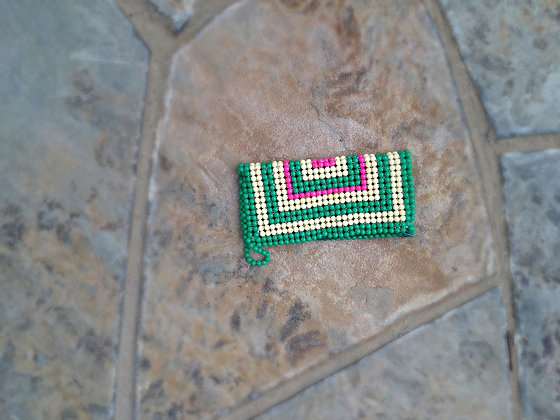 Pink/Yellow/Green Beaded Clutches