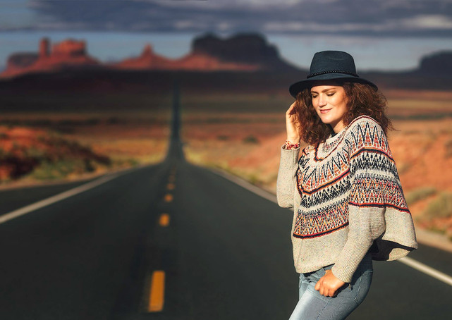 Christina Lyon in Monument Valley